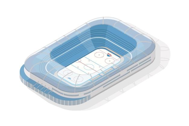Estádio isométrico de gelo