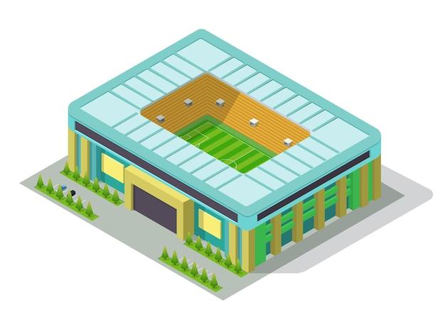 Estádio isométrico de vetor de futebol ou futebol