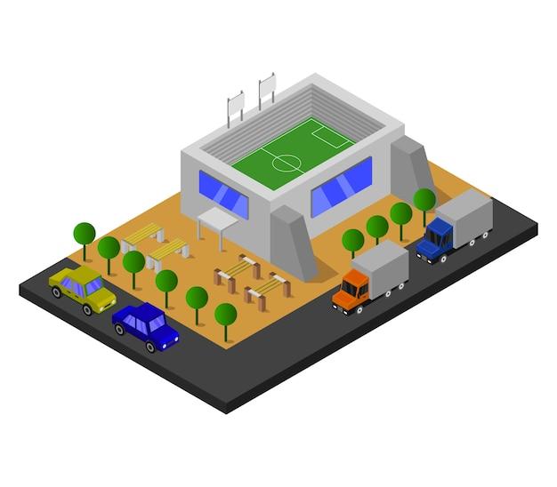 Estádio isométrico