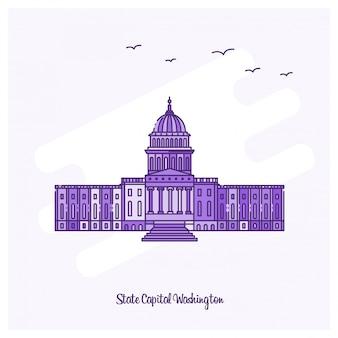 Estado capital washington landmark