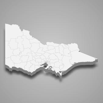 Estado do mapa 3d da austrália