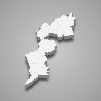 Estado do mapa 3d da áustria