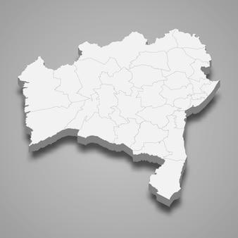 Estado do mapa 3d do brasil