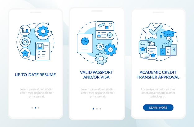 Estágio no exterior exige tela da página do aplicativo móvel de integração