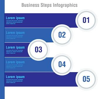 Estágios de negócios modelo de opções de infográficos abstrata