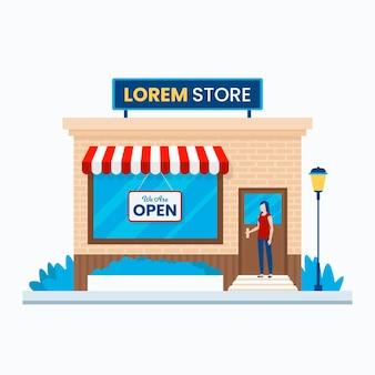 Estamos abertos loja local e cliente