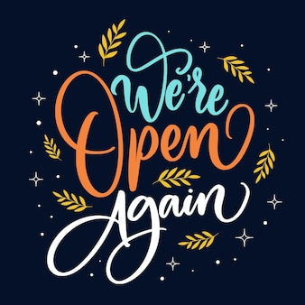 Estamos abertos novamente letras