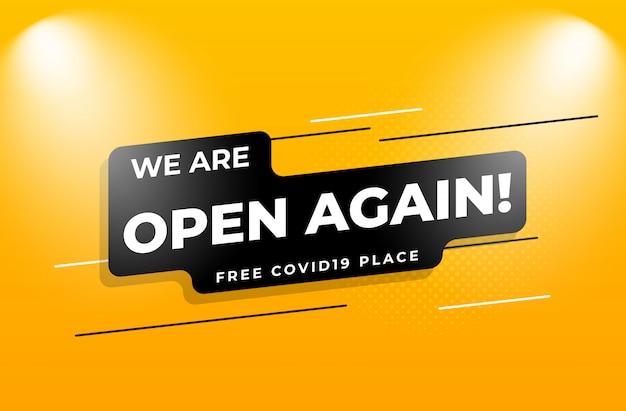 Estamos abertos novamente
