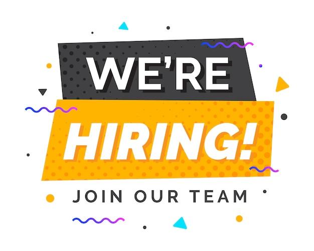 Estamos contratando banner de design de recrutamento