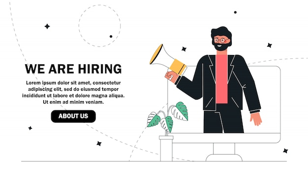 Estamos contratando conceito, agência de recrutamento.