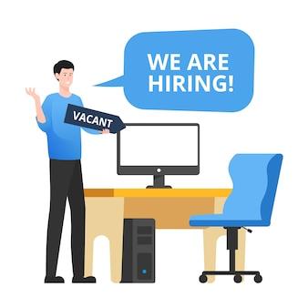 Estamos contratando. conceito de negócio de recrutamento e pessoal