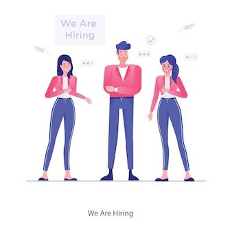 Estamos contratando design de ilustração vetorial para seleção de candidatos