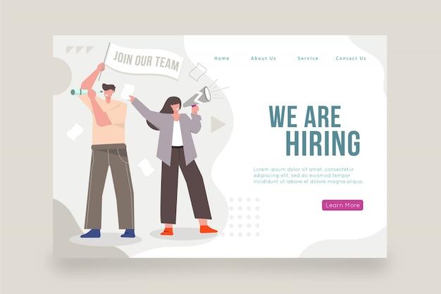Estamos contratando home page com ilustração
