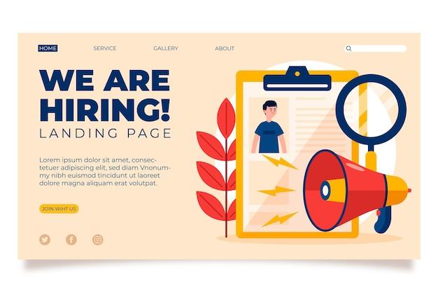 Estamos contratando - landing page