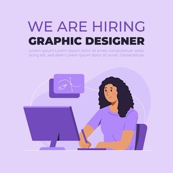 Estamos contratando o conceito de designer gráfico