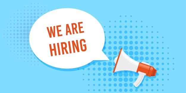 Estamos contratando. procura de emprego, recrutamento, conceito de recurso humano.