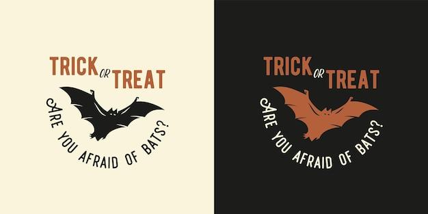 Estampa de bastão voador de halloween para vampiro de halloween