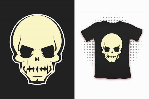 Estampa de caveira para design de camiseta