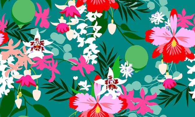 Estampa de moda tropical perfeita