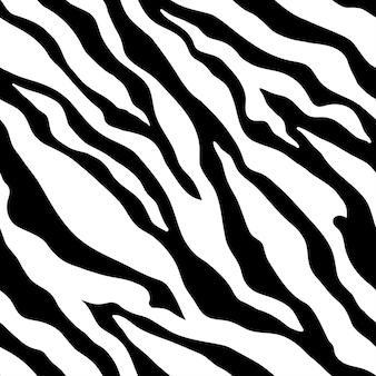 Estampa de zebra animal. cores preto e branco. padrão sem emenda monocromático