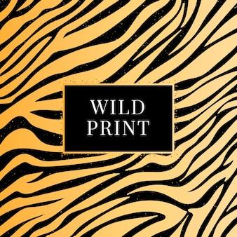 Estampa selvagem de padrão zebra sem costura