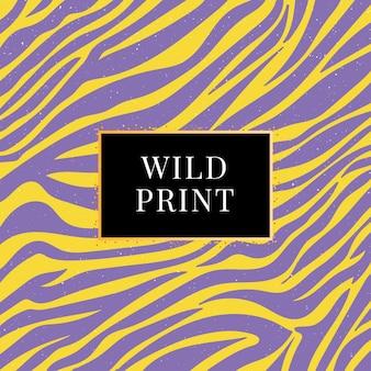 Estampa selvagem sem costura padrão de zebra