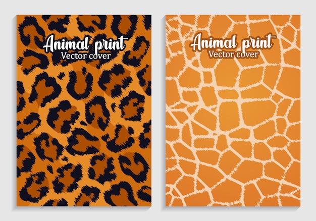 Estampas de animais de ilustração. couro e peles.