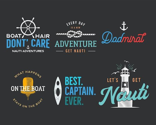 Estampas vintage náuticas