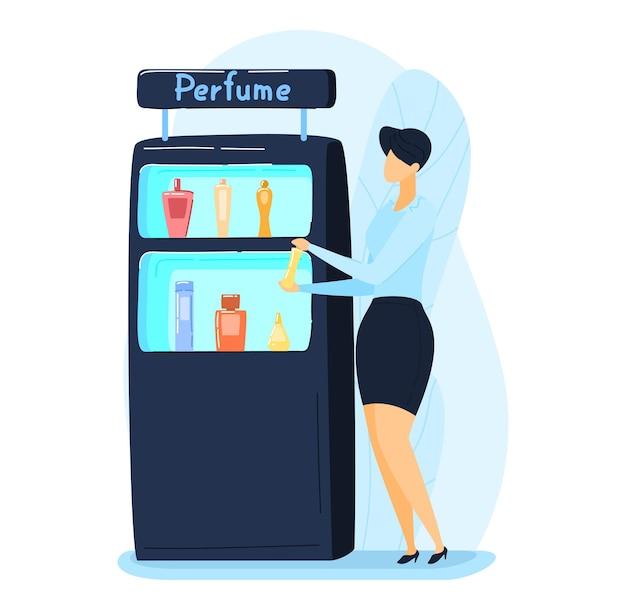 Estande de exposição de aroma e água de promoção de publicidade de perfume