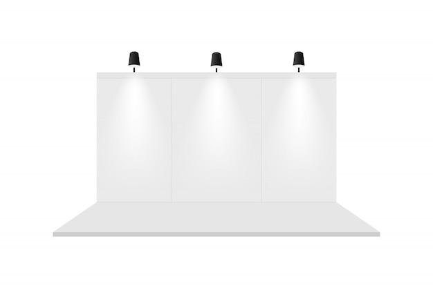 Estande de exposição em branco