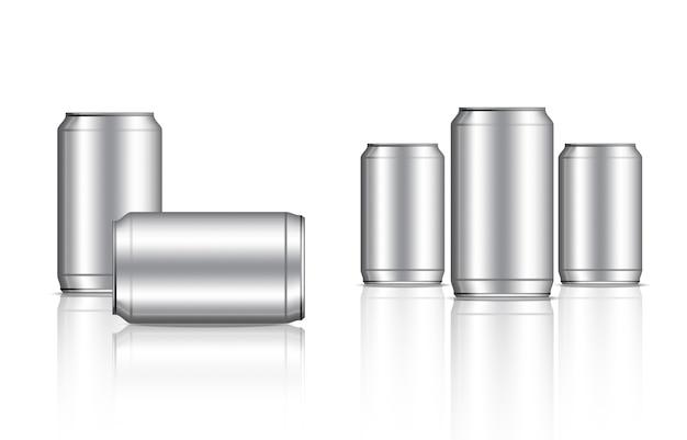Estanho metálico pode e embalagem de bebidas de garrafa