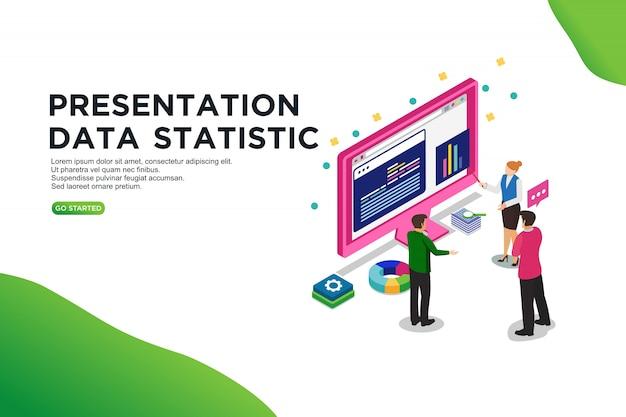 Estatística de dados de apresentação