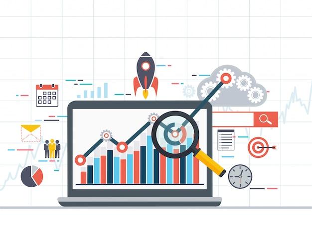 Estatística de informações e desenvolvimento de análise da web.