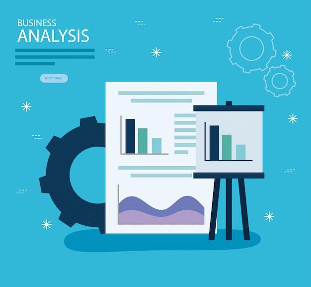 Estatísticas de análise de negócios vector design