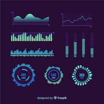 Estatísticas de marketing do progresso dos negócios
