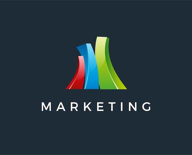 Estatísticas do gráfico e modelo de logotipo chave. projeto de vetor de sucesso de mercado. ilustração do gráfico de crescimento