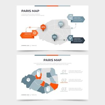 Estatísticas do mapa de paris plana