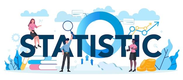 Estatístico e conceito de cabeçalho tipográfico estatístico