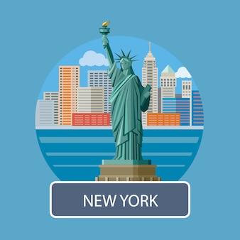 Estátua da liberdade, cidade nova iorque