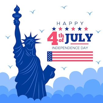 Estátua da liberdade do dia da independência dos eua