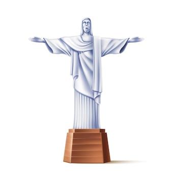 Estátua realista do redentor de cristo do rio