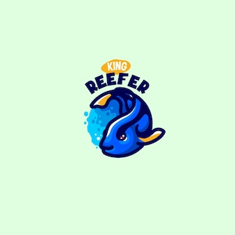 Este é o logotipo do cute fish mascot. este logotipo pode ser usado para logotipo de restaurante, comida e bebidas, negócios ou empresa.
