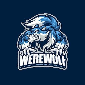 Este é o logotipo do were wolf mascot. este logotipo pode ser usado para esportes, streamer, jogos e logotipo de esport.