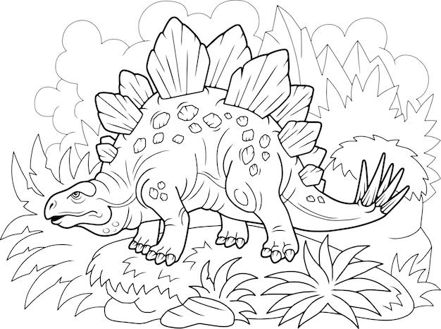 Estegossauro de dinossauro