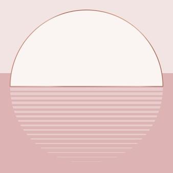 Estética do fundo do pôr do sol rosa nu