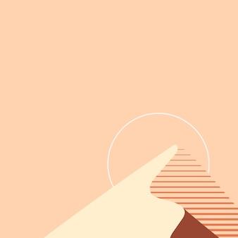 Estética do fundo laranja da montanha do pôr do sol