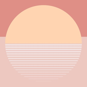 Estética do vetor do fundo do sol laranja pastel