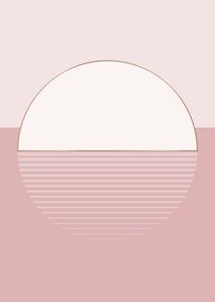 Estética do vetor do fundo do sol rosa nu