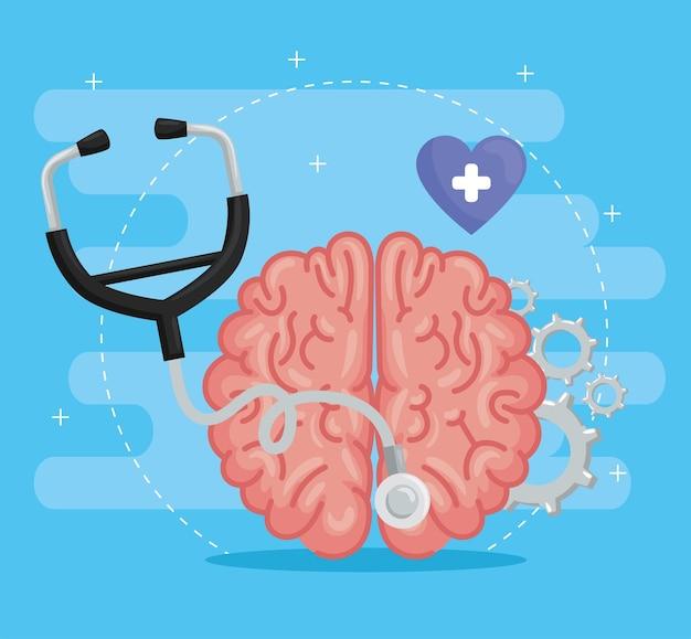 Estetoscópio com cérebro