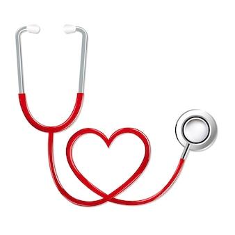 Estetoscópio em forma de coração